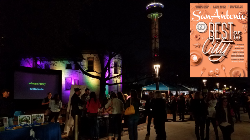 Living Light Shows at Tower of the Americas in Hemisfair Park