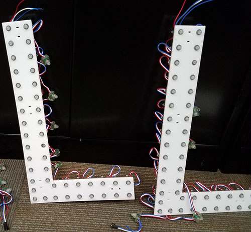 RGB LightType Sign Letters