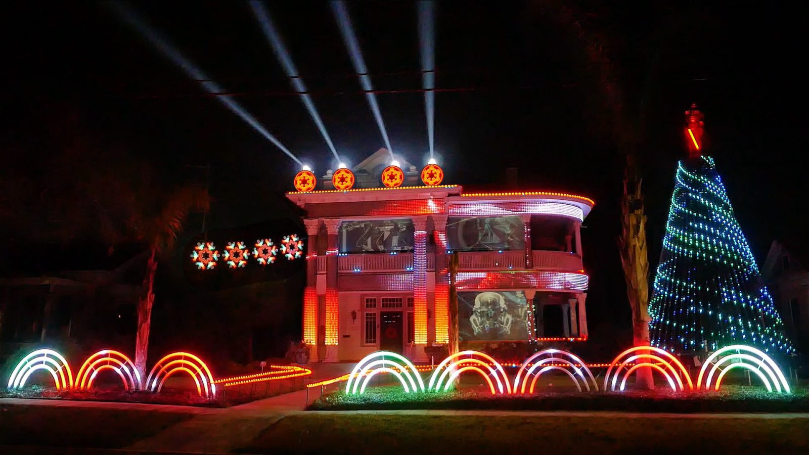 2017 Star Wars Light Show by LLS